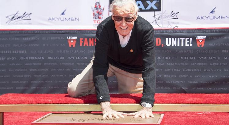 Stan Lee hand and footptint ceremony
