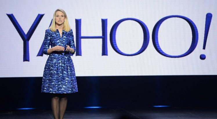 "(FILES) This file photo taken on January 7, 2014 shows Yahoo CEO Marissa Mayer speaking during her keynote address at  the 2014 International CES in Las Vegas, Nevada, January 7, 2014.   Yahoo said on September 22, 2016 that a massive attack on its network in 2014 allowed hackers to steal data from half a billion users and may have been ""state sponsored."" Yahoo, which confirmed details of the breach months after reports of a major hack, said its investigation concluded that ""certain user account information was stolen"" and that the attack came from ""what it believes is a state-sponsored actor."" / AFP / ROBYN BECK"