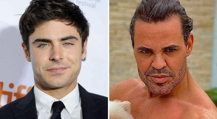 Zac Efron surpreende com novo visual e é comparado a Eduardo Costa